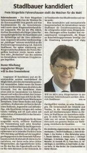 SZ: Heinrich Stadlbauer kandidiert